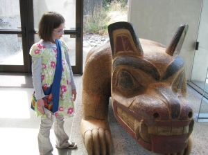 Emma at the Museum of Anthropology, UBC